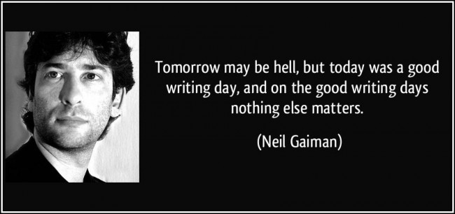 blogging mojo featured neil gaiman writing
