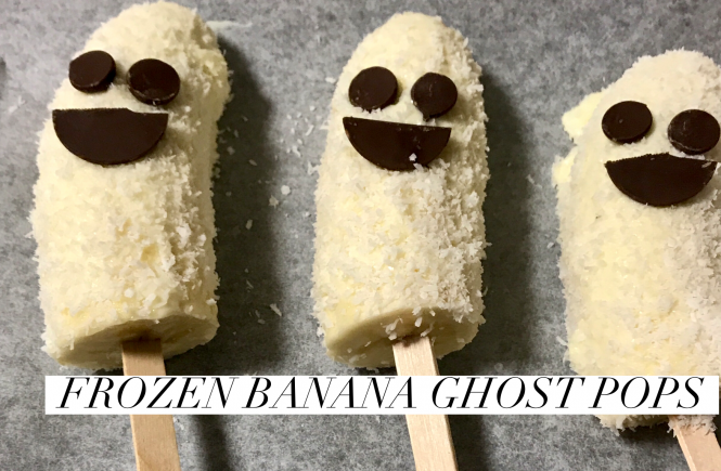 Frozen Banana Ghost Pops Halloween Recipes Easy Halloween