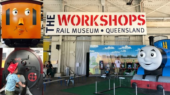 a day out with thomas the workshops museum toddler the railway workshops ipswich queensland australia